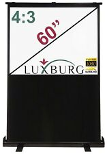 "Luxburg® 60"" 120x90 cm Portable Freestanding Floor Pull-up Projection Screen"
