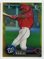 2016 Bowman Chrome VICTOR ROBLES 1ST Rookie Card RC GOLD REFRACTOR #/50 #BCP10