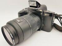 VINTAGE PENTAX Z-10 35mm SLR FILM CAMERA+ SMC PENTAX-F f4.7-5.6 80-200mm LENS