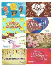 Lot (8) Walmart Gift Cards No $ Value Collectible incl. Mothers Day, Love, Ducks