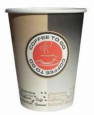 1000 Coffee to go Becher, Kaffeebecher aus Hartpapier black/beige, 0,3l