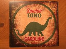 Tin Sign Vintage Sinclair Dino Gas Station Motor Oil