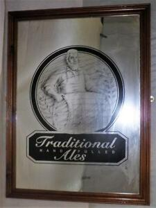 """*Vintage- Framed """"Tradition Ales"""" Mirror with Painted design- 24"""" x 32""""*"""