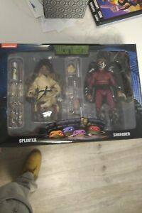 NECA TMNT 1990 Ninja Turtles Movie Splinter & Shredder Walmart 2-Pack Figure Set