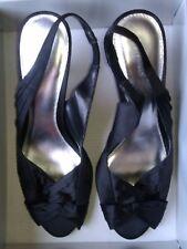 Barratts, High Heeled, Ladies Slingback, Black Evening Shoes, Size 4/37