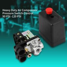 4 Porte Compressore D'Aria Pressostato Valvola Di Regolazione 90-120 PSI 220V