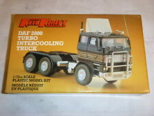 A vintage Keil Kraft un built plastic kit of a DAF 2800 Turbo intercooling truc