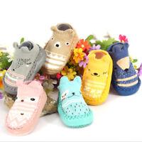 Toddler baby girl boy anti-slip boot socks kids baby cartoon warm shoes slipper*