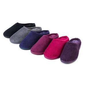 NEW! Isotoner Ladies Popcorn Terry Mule Slippers