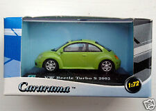 Cararama 1/72 scale 2002 VW New Beetle Turbo S - green