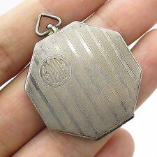 Antq Marathon 925 Sterling Silver Handmade Locket Pendant