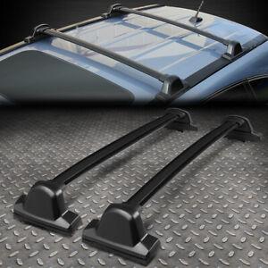 FOR 07-11 HONDA CRV PAIR BLACK ALUMINUM ROOF RACK RAIL CROSS BAR CARGO CARRIER