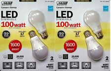 Lot of 4 Feit Electric LED 100W, 1600 Lumens, Omni Directional light bulb, 2700K