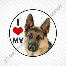 I Heart Love My German Shepard Dog Vinyl Decal Bumper Sticker car truck Macbook