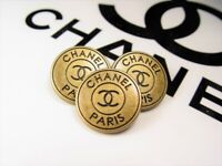 CHANEL metal Buttons ( price for 1 button )