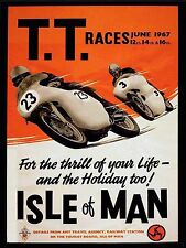 TT Races June 1967 Vintage Motorbike, Retro Metal Aluminium wall Sign