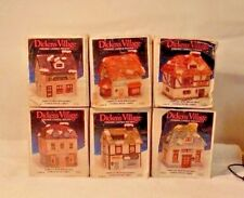 DICKENS VILLAGE CERAMIC CANDLE HOLDERS - LOT OF 6 / BOX