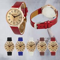 Fashion Womens Geneva Watch Faux Leather Casual Analog Quartz Wrist Watches