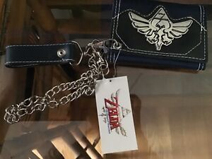 The Legend of Zelda Skyward Sword Trifold Wallet with Chain