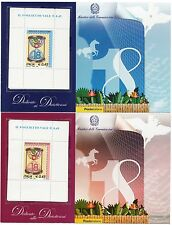 2006 BF 43/44 Foglietti Diciottenni azzurro +rosa coppia nuovi completi ** MNH