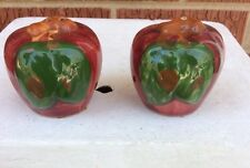 """Franciscan """"Apple"""" Salt & Pepper Shakers ~ Made In The USA"""