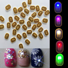 New Christmas Glowing Nail Art Sticker LED Light Flash Phone Scintillation Decal