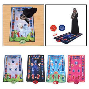Electronic Muslim Prayer Rug Kids Pray Teaching Interactive Mat Carpet Pad