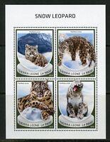 SIERRA LEONE 2018 SNOW LEOPARD SHEET MINT NH