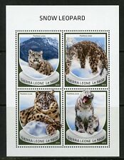 SIERRA LEONE 2018 SNOW LEOPARD SHEET MINT NH