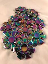 10 Lot Gear Rainbow Fidget EDC Hand Spinner Torqbar ADHD Autism Finger Toy T6