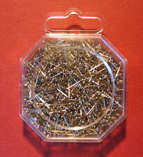 Four packs of 1000-13mm Brand New Silver Plated Sequin Pins-christmas crafting