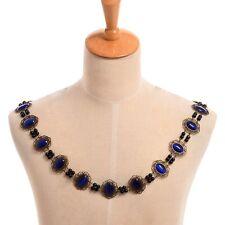 Medieval Renaissance SCA Tudor Elizabethan Blue Livery Chain Collar Of Office
