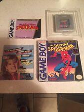 The Amazing Spider-Man Nintendo Game Boy 1990 Cib  Manual Game And Box