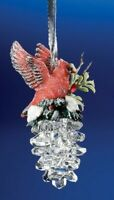 "Icy Craft Clear Acrylic 3.25/"" x 2/"" Christmas Tree Locomotive Ornament"