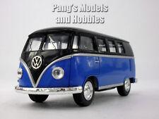 VW T1 (Type 2) Bus 1/32 Scale Diecast & Plastic Model  - Black - Blue
