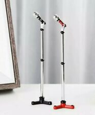 Doll House Accessories 1:12th Miniature - 1 Mini Microphone on stand