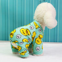 1*Pet Puppy Dog Cat Cotton Pajamas Soft Clothes Jumpsuit Apparel Sleepwear S-XXL