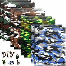 Camo Htv Heat Transfer Vinyl Bundle 8 Pack 12 X 10 Sheets Iron On Vinyl
