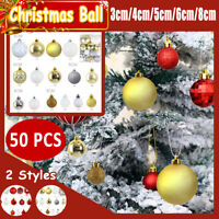 50pcs DIY Christmas Ball Party Ornament Fillable Baubles Craft Tree  +(