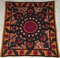 Antike Uzbek Suzani Embroidered Tischdecke Tablecloth dug Tavaglia Nappe Mantel