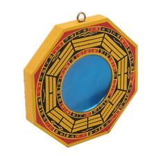 Good Fortune China Mascot Home Decoration Mahogany Protection Concave Mirror O3