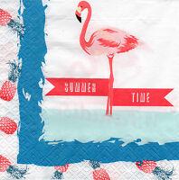 4 Servietten Motivservietten Serviettentechnik Summer Time Flamingo (1331)