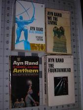 *Atlas Shrugged* Ayn Rand Lot 4 Vntge PBAnthem/We the Living/Anthem/Fountainhead