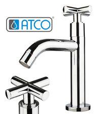 Retro Kaltwasser Armatur Standventil Wasserhahn Gäste-WC Bad Kreuzgriff Ventil