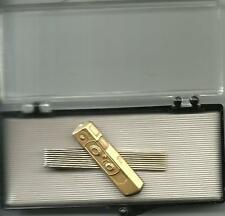 MINOX TIE CLIP IN GIFT BOX - GOLD COLORED EXTREMELY RARE L@@K!