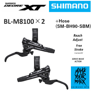 SHIMANO Deore XT BL-M8100 Hydraulic Disc Brake Lever Set Left Right IBLM8100PA