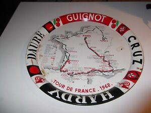 PLATEAU PUBLICITAIRE TOUR DE FRANCE 1962  CRUZ  GUIGNOLET  DAURE  HARDY