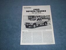 "1988 Toyota Trucks 4Runner Info Article ""Fast and Sleek"""