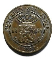 1857 Netherlands East Indies One 1 Cent - Willem III / Wilhelmina - Lot 889