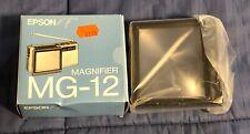 1980's Epson Elf Analog Color Pocket Tv Magnifier Model Mg-12 - Brand New